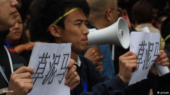 Demonstranten in Fujian Flash-Galerie