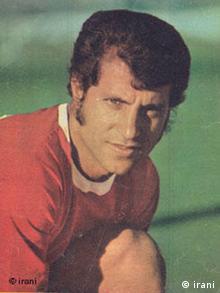 علی پروین، ستاره تیم ملی فوتبال ایران در بازیهای ۱۹۷۴ تهران