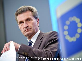 EU commissioner for Energy Gunther Oettinger