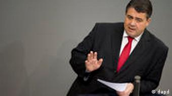 SPD party leader Sigmar Gabriel
