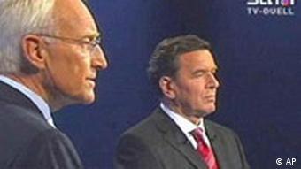 Stoiber und Schröder bei SAT1