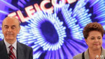 دیلما روسف، پیروز انتخابات، و رقیب بازنده او، ژوزه سرا