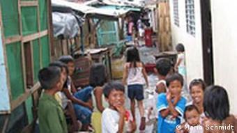 Slumkinder in Manila