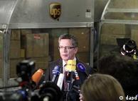 توماس دمزیر، وزیر کشور آلمان در بخش ترابری فرودگاه کلن