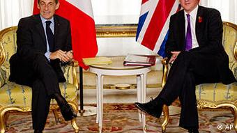 French President Nicolas Sarkozy, and Britain's Prime Minister David Cameron