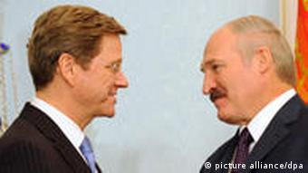 German Foreign Minister Guido Westerwelle and Lukashenko