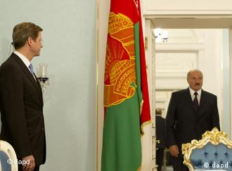 Гидо Вестервелле и Александр Лукашенко (фото из архива)