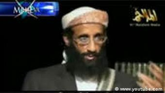 Der militante Geistliche Anwar al-Awlaki in einem Youtube-Video (Foto:www.youtube.com)