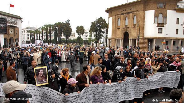 Marokko Demo in Rabat Flash-Galerie