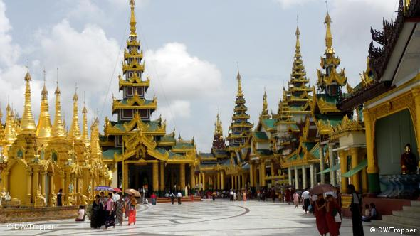 Shwedagon pagoda in Yangon, one of the major tourist destinations