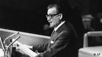 Salvador Allende am 4. Dezember 1972 in New York (Foto: AP)