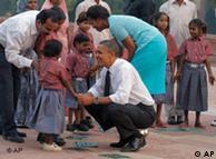 奥巴马同夫人在印度访问