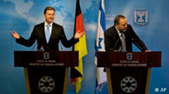 Westerwelle Avigdor Lieberman Israel Symbolbild Deutsche Außenpolitik