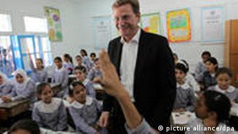 Guido Westerwelle in Gaza
