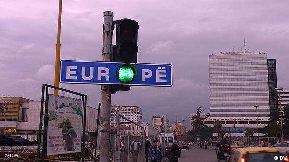 Liberalisierung der EU-Visa für Albanien Tirana Feierlichkeiten Flash-Galerie