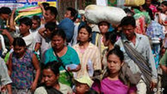 Myanmar refugees in Mae Sot, Thailand