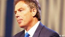 British Prime Minister Tony Blair speaks to the plenary session of the World Summit on Sustainable Development at Sandton Convention Center in Johannesburg on Monday Sept. 2, 2002.