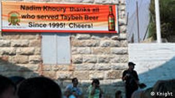 A sign up at the Taybeh Oktoberfest