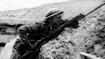 British WWI trench