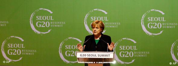 G20 Angela Merkel Seoul NO FLASH