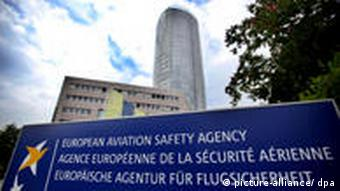 The seat of the European Aviation Safety Agency (EASA)in Cologne. (Photo: Oliver Berg dpa/lnw)