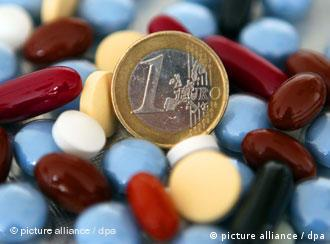 a euro coin in pills
