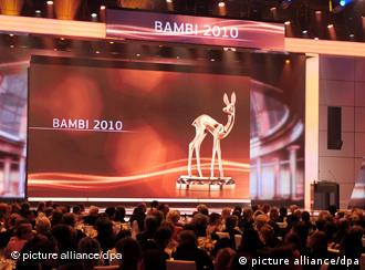 The audience and the stage at the Bambi awards 2010