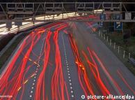 Автобан А14  под Лейпцигом