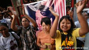 Aung San Suu Kyi's supporters