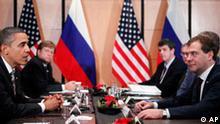 President Barack Obama meets with President Dmitry Medvedev of Russia on the sidelines of the APEC summit in Yokohama, Japan, Sunday, Nov. 14, 2010. (AP Photo/Charles Dharapak)