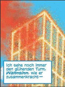 Brennendes WTC im Comic
