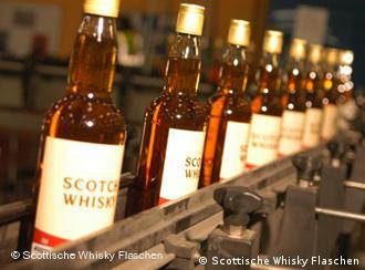 Bottles of Scotch whisky