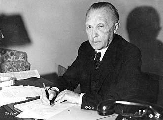 Konrad Adenauer, defensor da CED