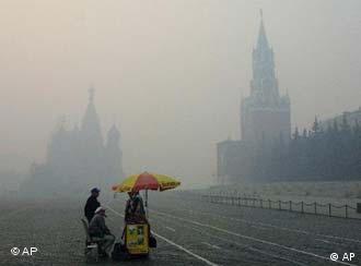Smog ist auch in Moskau keine Seltenheit