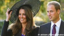 Royal engagement.File photo dated 23/10/10 of Prince William and Kate Middleton leaving the wedding of their friends Harry Mead and Rosie Bradford in the village of Northleach, Gloucestershire. Prince William is to marry Kate Middleton next year, Clarence House said today. Issue date: Tuesday November 16, 2010. See PA story ROYAL Wedding. Photo credit should read: Chris Ison/PA Wire URN:9786350