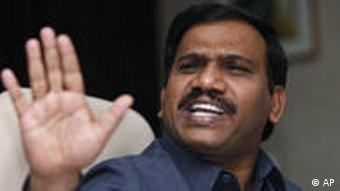 India's former Communications and Information Technology Minister A. Raja
