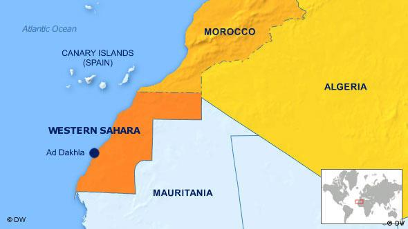 Map showing the Western Sahara