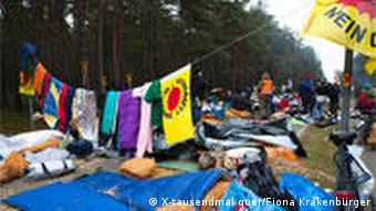 A protest camp