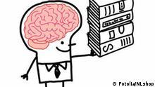 Symbolbild Wissen lernen Bücher Gehirn Bild: Fotolia