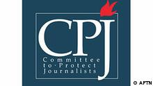 CPJ logo, COMMITTEE TO PROTECT JOURNALISTS, graphic element on white 2008/11/26
