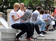 Сидней, 19 ноября 2010 года. Акция-напоминание о проблеме нехватки туалетов