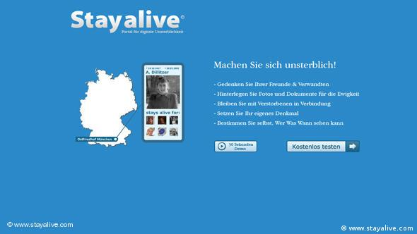 Flash-Galerie Screenshot www.stayalive.com