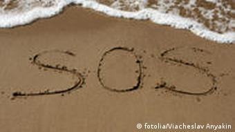 SOS Hilferuf Strand Sand Meer