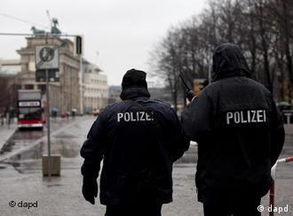 Police patrol in Berlin