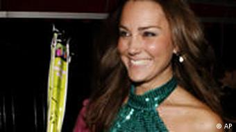 Photo of Kate Middleton in a green dress