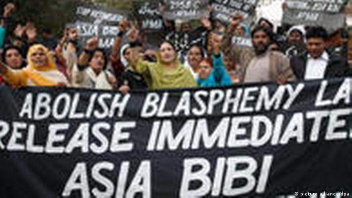 Demonstration für Asia Bibi in Pakistan
