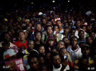 Supporters of Haitian presidential candidate Michel Martelly