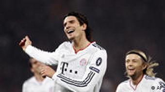 Mario Gomez celebrates after scoring his second goal