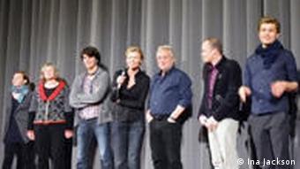 Filmteam bei der Premiere von Heidi Specognas Dokumentarfilm Das Schiff des Torjägers in Berlin (Foto: Ina Jackson)