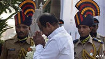 Indian Home Minister P. Chidambaram paid tribute to the victims on the second anniversary